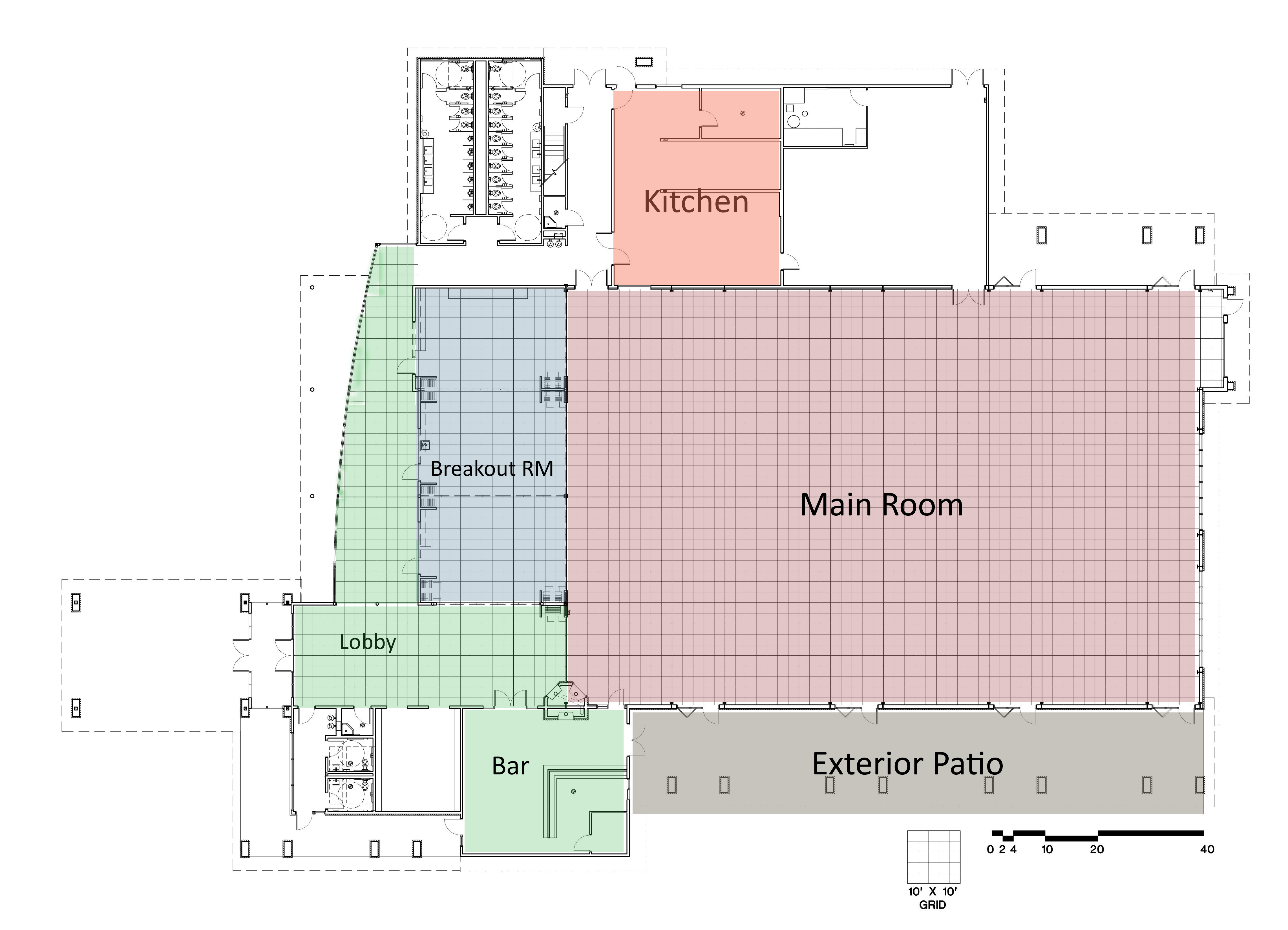 Floor Maps Specifications Lander Community And Convention Center